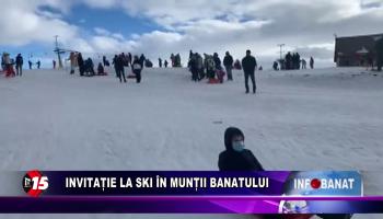 Invitație la ski în Munții Banatului