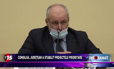 Consiliul Județean a stabilit proiectele prioritare