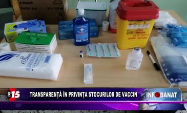 Transparență în privința stocurilor de vaccin