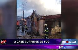 2 case cuprinse de foc