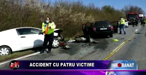Accident cu patru victime