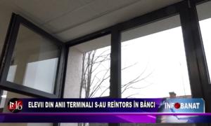 Elevii din anii terminali s-au reîntors în bănci