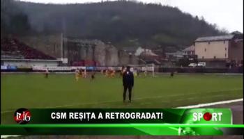 CSM Reșița a retrogradat!