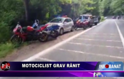 Motociclist grav rănit