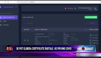 Se pot elibera certificate digitale UE privind COVID