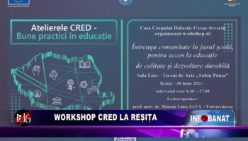 Workshop CRED la Reșița