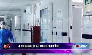 4 decese și 48 de infectări