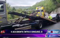 4 accidente într-o singură zi