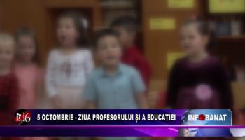 5 octombrie – Ziua Profesorului și a Educației