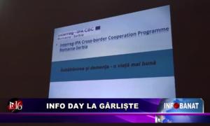 Info Day la Gârliște